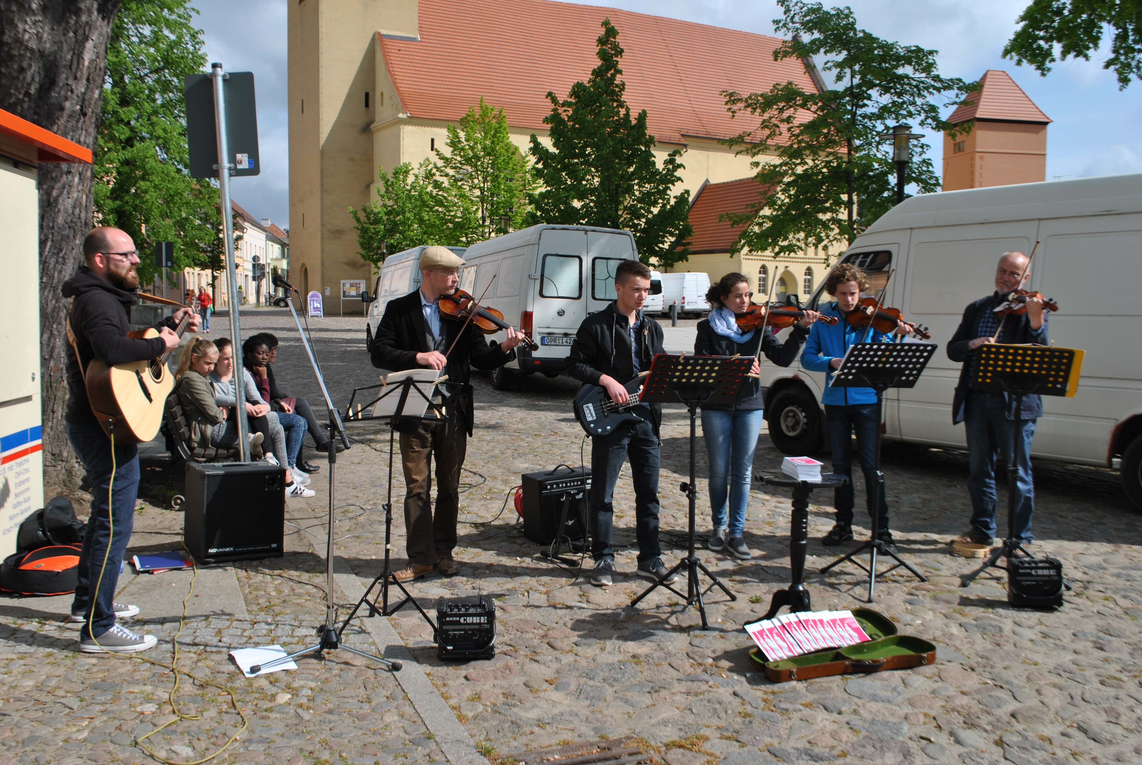 Straßenmusik in Rheinsberg